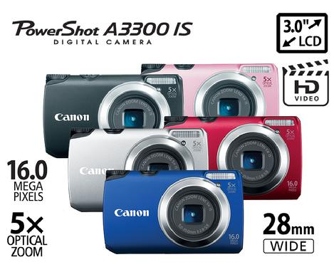 Canon Powershot A3300IS digital camera