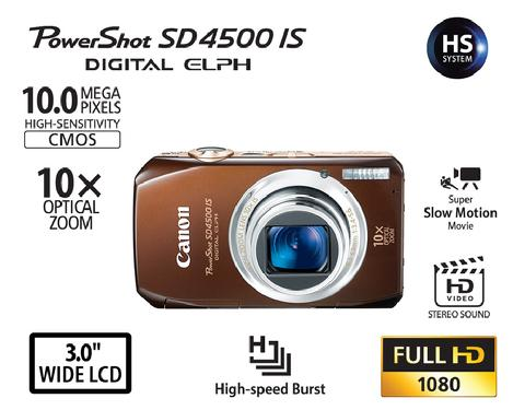 Canon Powershot SD4500IS digital camera